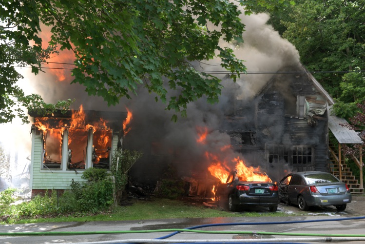 Valley News - Cigarette Sparked 2-Alarm Fire