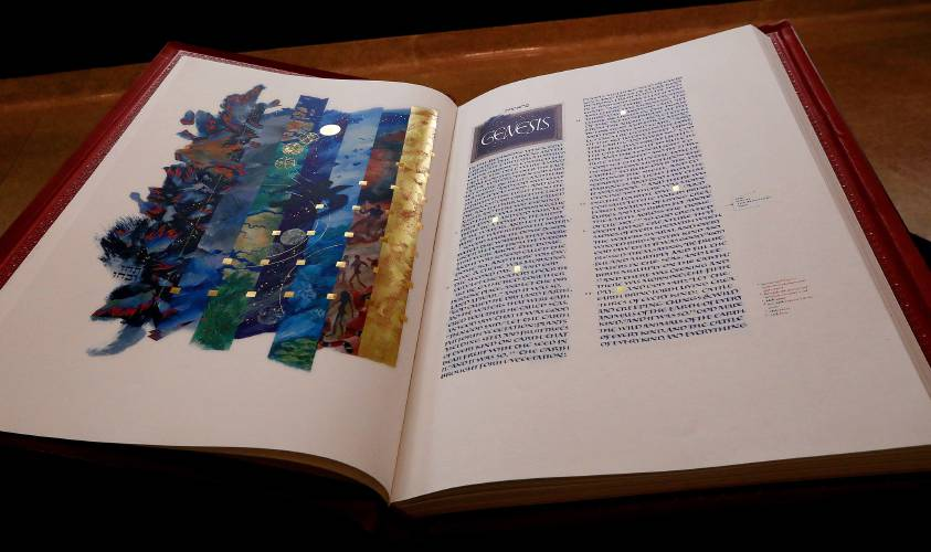 Valley News Illuminated Manuscript Updates The Bible And