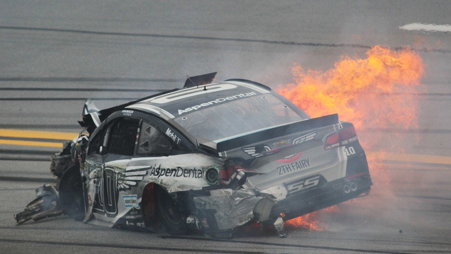 Vickers crashes in 1st NASCAR race as Stewart's fill-in