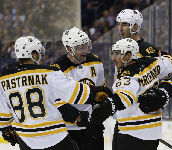 4acc6a35f No Bergeron, No Problem as Bruins Win Season Opener - Defeat Blue Jackets 6- 3