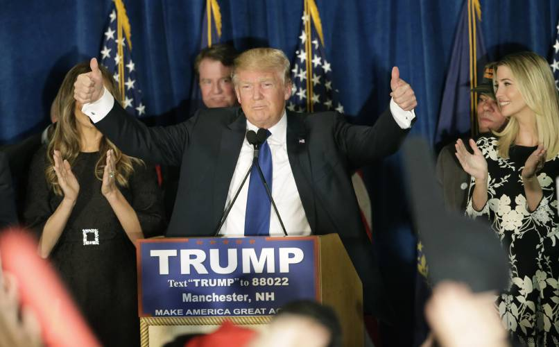 Valley News - Proposal for N H  GOP to Endorse Trump Before