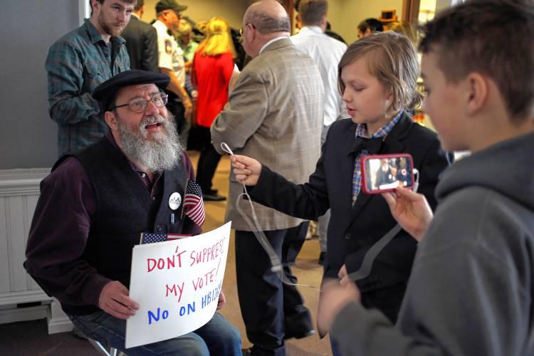 Valley News - Dozens Testify on N H  Voter Bill