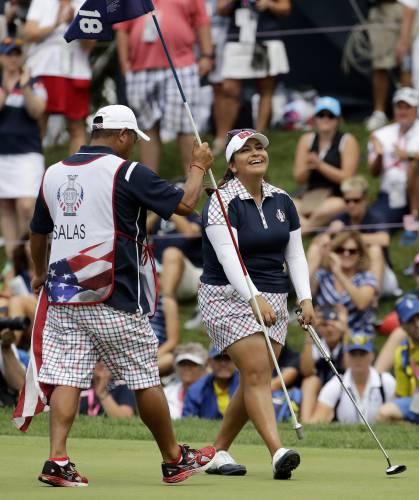 Valley News - Golf: U S  Rolls to Solheim Cup