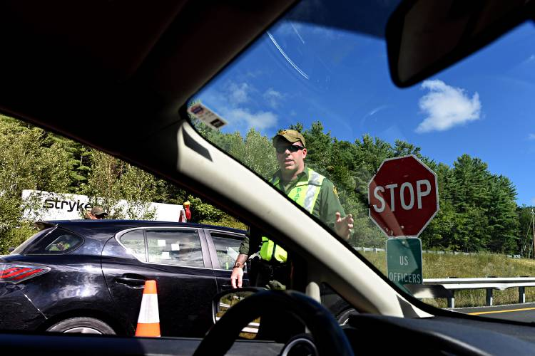 Valley News - Border Patrol checkpoint on Interstate 89 in