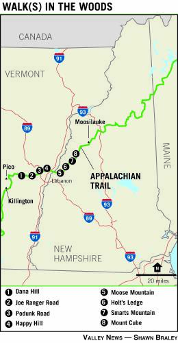 Appalachian Trail New England Map.Valley News Two Roads Diverged Bypassed Bits Of Appalachian Trail