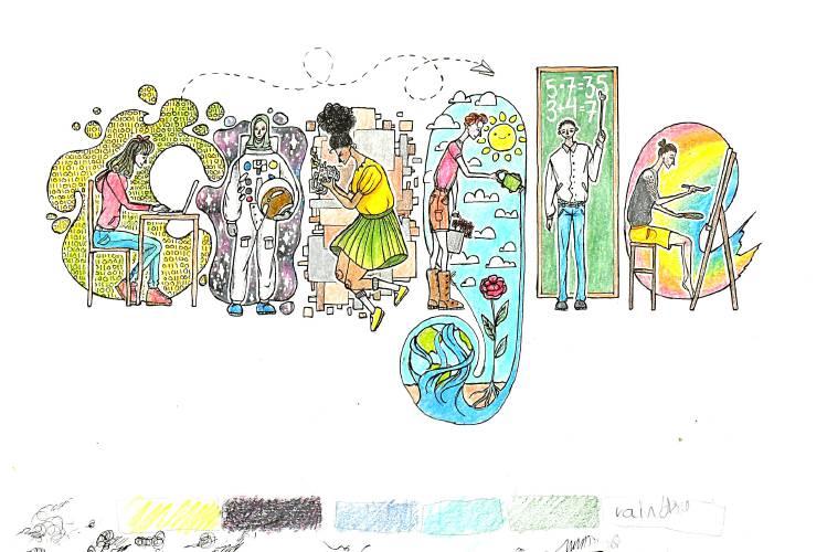 valley news hanover teen s design wins state doodle for google award design wins state doodle for google
