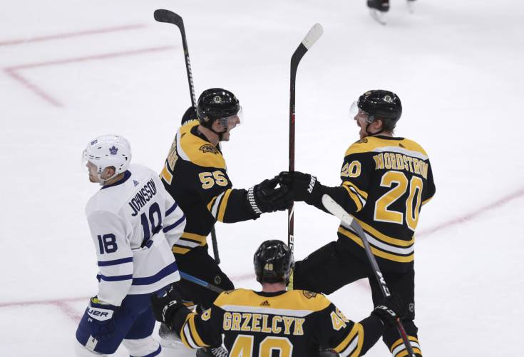 Valley News Bruins March On Wilt Leafs In Game 7