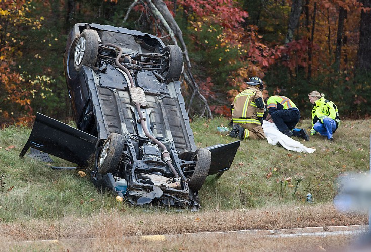 Valley News - New London Crash Sends Two to Hospital