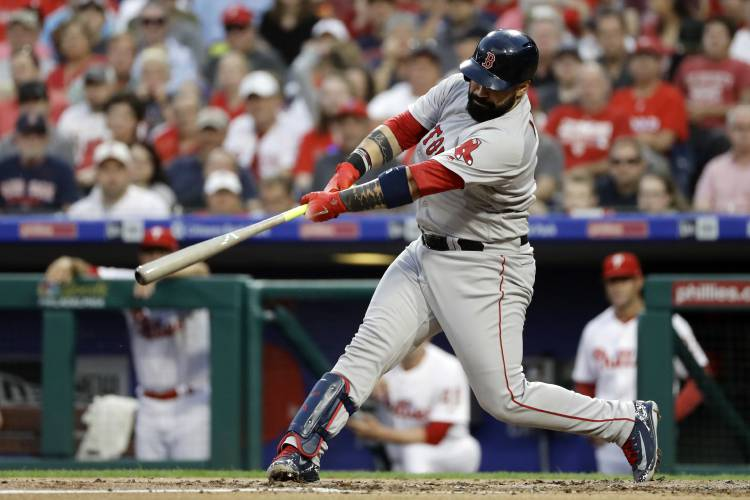 Valley News - Holt's a Hit in a Pinch for Red Sox