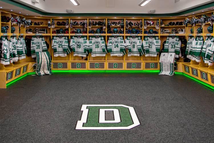 valley news a new look dartmouth hockey locker rooms