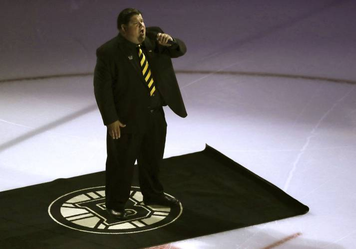 reputable site 057d6 ba907 Valley News - Have a drink, and a song: Bruins anthem singer ...