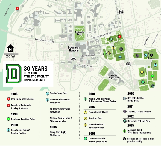 Dartmouth College Map on