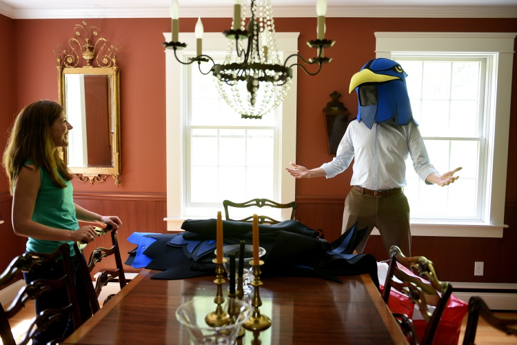 Attrayant Owner Of The Upper Valley Nighthawks, Noah Crane Shows Off The Teamu0027s  Mascot To His Wife, Alyssa At Their Home In Lebanon, N.H., On May 25, 2016.