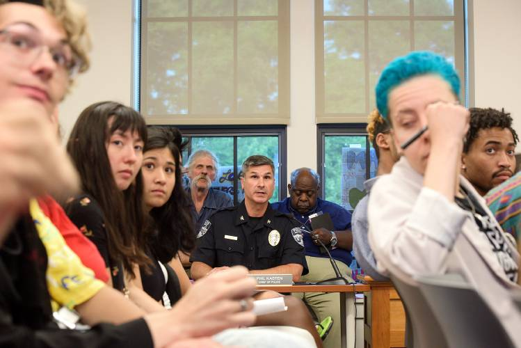 Valley News - Immigration debate fills Hartford Town Hall