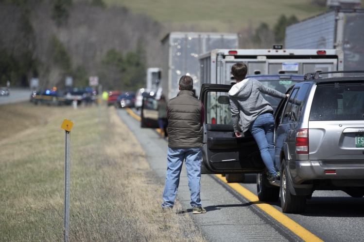 Valley News - No Injuries in I-89 Crash