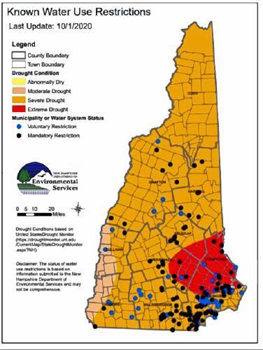 Despite recent rain, New Hampshire is still in a serious drought