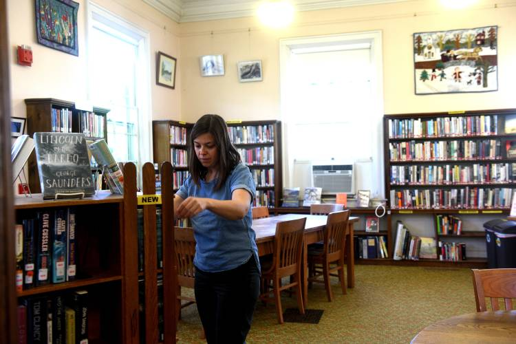 Sage Lewis The Interim Co Director Of Royalton Memorial Library Works At On June 15 2017 In South Vt Valley News